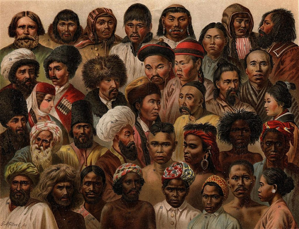The racial diversity of Asia's peoples, 1904.