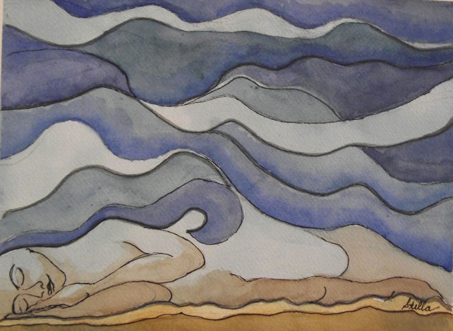 """DREAM UNDER A DESERT SKY,"" BY VISUALLY IMPAIRED ARTIST STELLA DE GENOVA"
