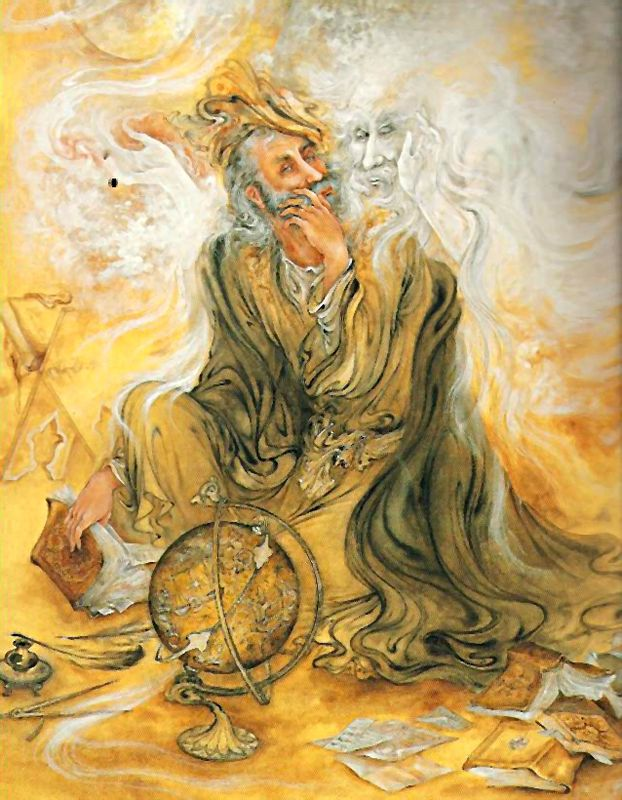 """The Distant Drummer"", poet, mystic and philosopher Jalāl ad-Dīn Muhammad Rūmī ~ by Mahmoud Farshchian"