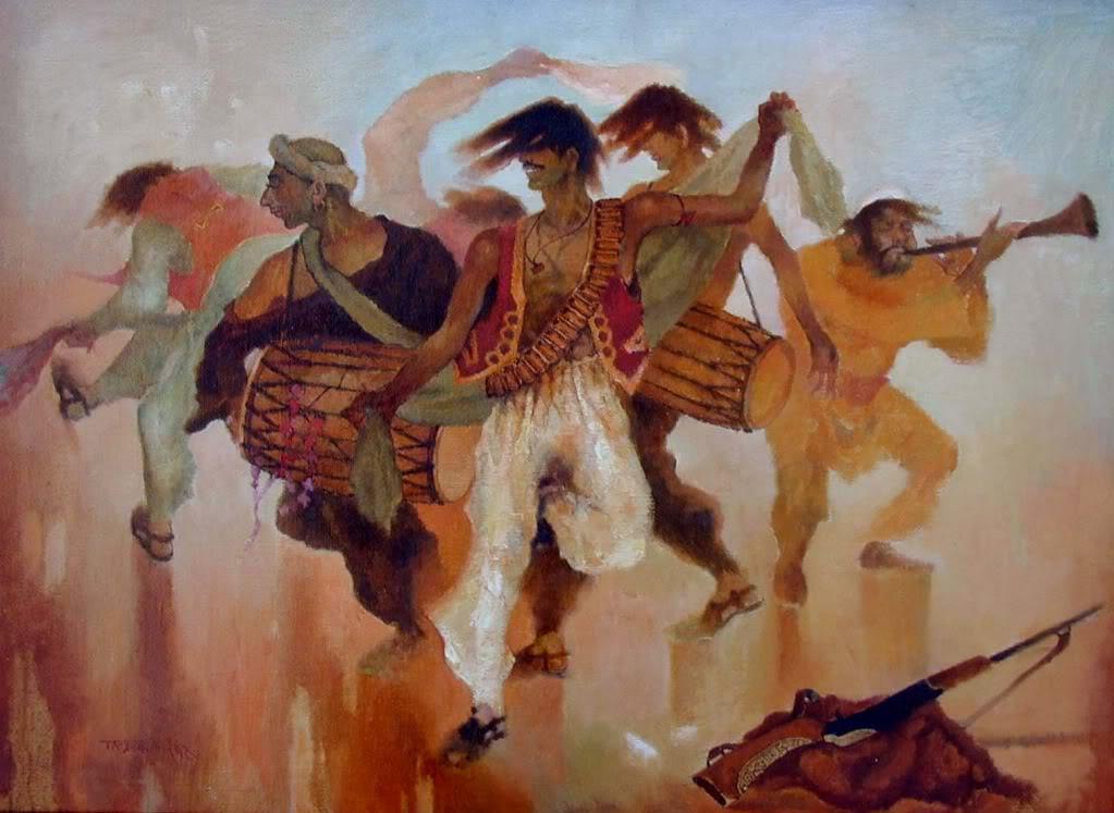 Traditional Afghan folk dance, Attan, by Yar Mohammad Taraky