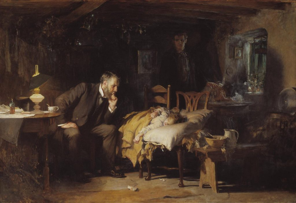 The Doctor exhibited 1891. Sir Luke Fildes 1843-1927. Presented by Sir Henry Tate 1894