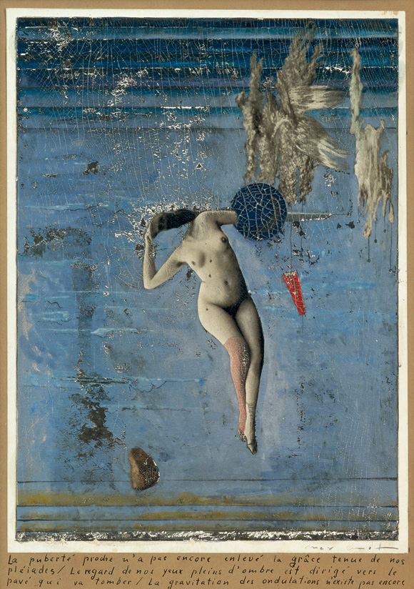 Approaching Puberty (The Pleiades), 1921by Max Ernst. Virginity and lasciviousness, the celestial and the earthly, floating and falling, grace and destruction—in this intriguing work Max Ernst holds a wealth of opposites in balance.