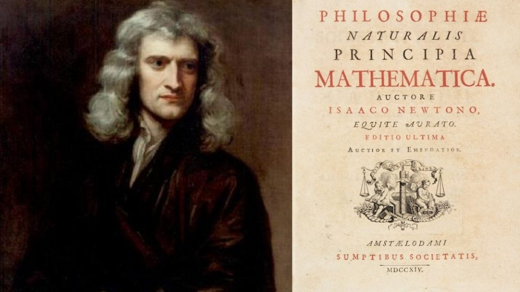 Philosophiæ Naturalis Principia Mathematica - Mathematical Principles of Natural Philosophy is a work in three books by Isaac Newton, in Latin, first published 5 July 1687. The Principia states Newton's laws of motion, forming the foundation of classical mechanics, also Newton's law of universal gravitation. The Principia is regarded as one of the most important works in the history of science.