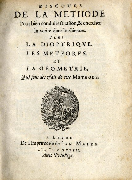 "The Discourse on the Method (French: Discours de la méthode) is a philosophical and autobiographical treatise published by René Descartes in 1637. Its full name is Discourse on the Method of Rightly Conducting One's Reason and of Seeking Truth in the Sciences. The Discourse on The Method is best known as the source of the famous quotation ""Je pense, donc je suis"" (""I think, therefore I am""), which occurs in Part IV of the work. (The similar statement in Latin, Cogito ergo sum, is found in Part I, §7 ofPrinciples of Philosophy.)"
